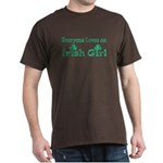 Everyone Loves an Irish Girl Black T-Shirt