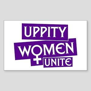 UPPITY WOMEN UNITE Rectangle Sticker