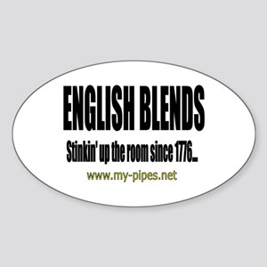 English Blends Oval Sticker