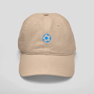 Blue Soccer Ball Cap