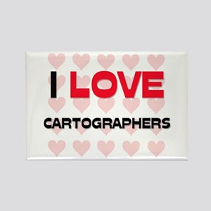 I LOVE CARTOGRAPHERS Rectangle Magnet