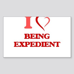 I love Being Expedient Sticker