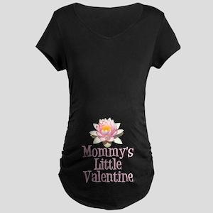 Mommy's Little Valentine Maternity Dark T-Shirt