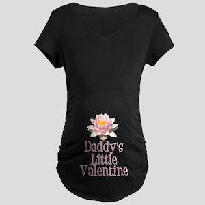 Daddy's Little Valentine Maternity Dark T-Shirt