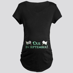 Due in September Maternity Dark T-Shirt