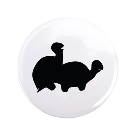 """turtle sex icon 3.5"""" Button (100 pack)"""