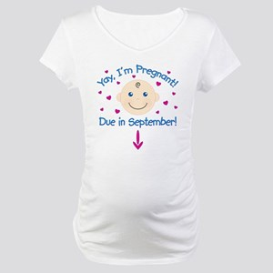Pregnant Due September Maternity T-Shirt