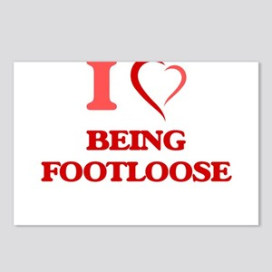 I Love Being Footloose Postcards (Package of 8)