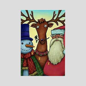 Santa & Friends Troop Support Rectangle Magnet