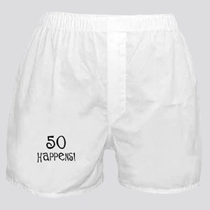 50th birthday gifts 50 happens Boxer Shorts