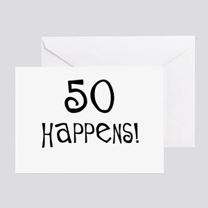 50th birthday gifts 50 happens Greeting Card