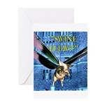 Swine Flew Greeting Card