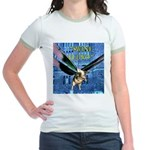 Swine Flew Jr. Ringer T-Shirt