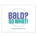 Bald So What Small Poster