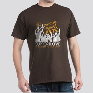 Straight Against Hate Dark T-Shirt