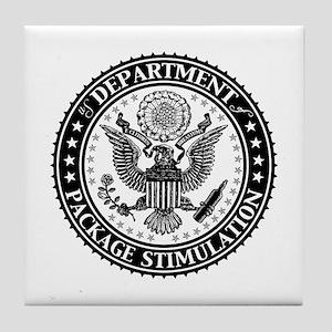 Dept of Package Stimulation Tile Coaster