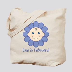 Due in February Baby Boy Tote Bag