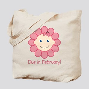 Due in February Baby Girl Tote Bag
