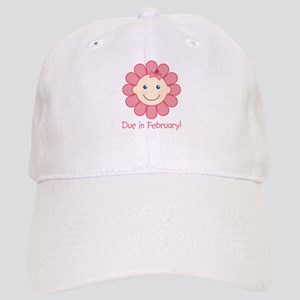 Due in February Baby Girl Cap