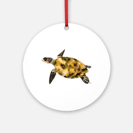 Sea Turtle Ornament (Round)