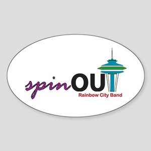 spinOUT Oval Sticker