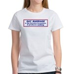 Against Gay Marriage Women's T-Shirt