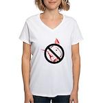 StopSwine Women's V-Neck T-Shirt