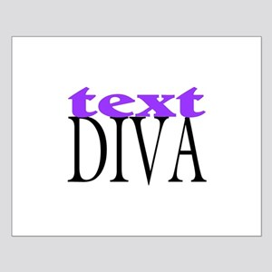 Text Diva Small Poster