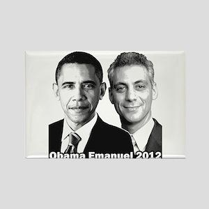Obama Emanuel 2012 - Rectangle Magnet