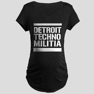 Detroit Techno Militia Maternity Dark T-Shirt