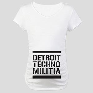 Detroit Techno Militia Maternity T-Shirt