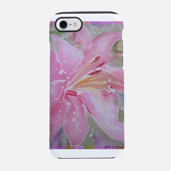 Pink Lily! Floral art! iPhone 7 Tough Case