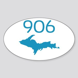 906 4 LIFE Oval Sticker