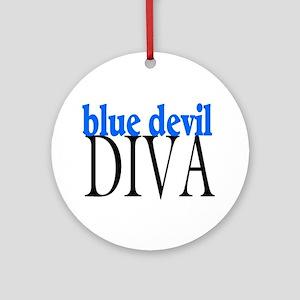 Blue Devil Diva Ornament (Round)