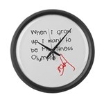 Grow up Ms Fitness Olympia Large Wall Clock