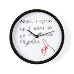Grow up Ms Fitness Olympia Wall Clock