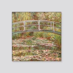 Monet's Japanese Bridge and Water Lily Sticker