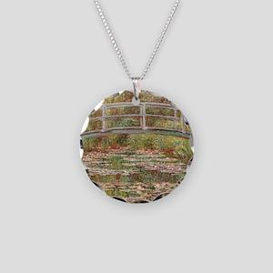 Monet's Japanese Bridge Necklace Circle Charm