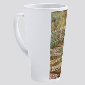 Monet's Japanese Bridge and Wa 17 oz Latte Mug
