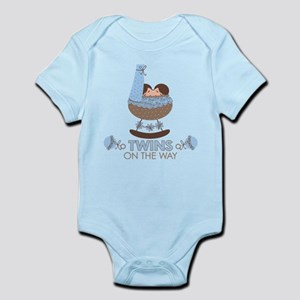 Boy Twins On Way Infant Bodysuit
