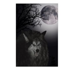 Moonlit Wolf Postcards (Package of 8)