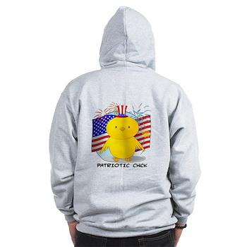 Patriotic Chick Zip Hoodie