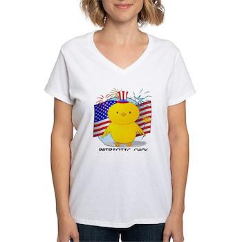 Patriotic Chick Women's V-Neck T-Shirt