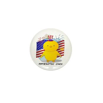 Patriotic Chick Mini Button (100 pack)