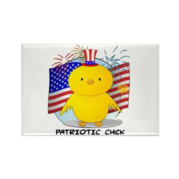 Patriotic Chick Rectangle Magnet