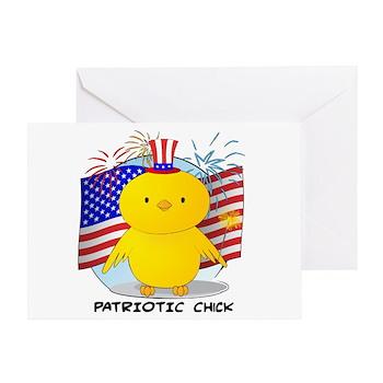 Patriotic Chick Greeting Card