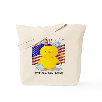 Patriotic Chick Tote Bag