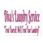 Diva's Laundry Service Logo 4 Postcards (Package o