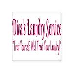 Diva's Laundry Service Logo 4 Sticker
