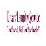 Diva's Laundry Service Logo 4 Wall Decal